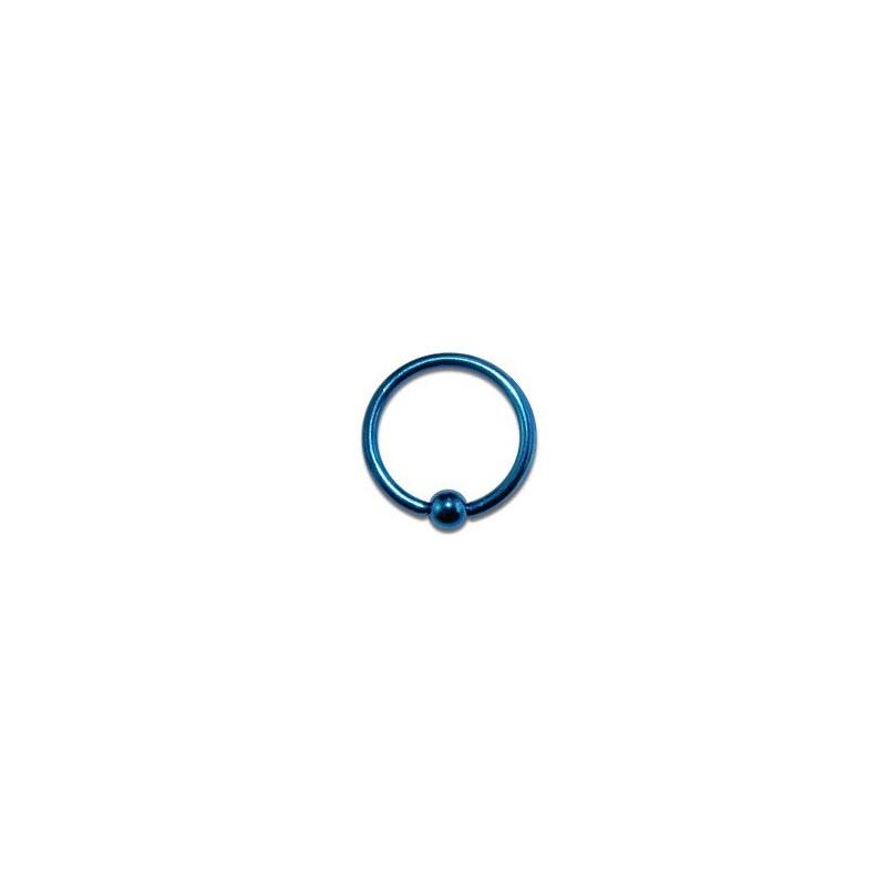 piercing anneau tragus acier anodise bleu avec boule 2 5mm. Black Bedroom Furniture Sets. Home Design Ideas