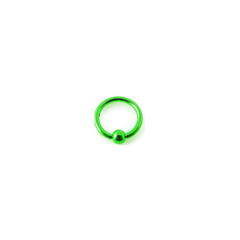piercing anneau oreille nez en acier anodise vert avec boule 3mm. Black Bedroom Furniture Sets. Home Design Ideas