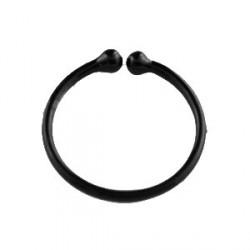 Faux piercing anneau noir 8mm Phot