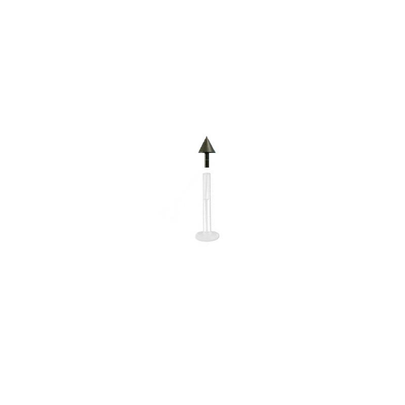 piercing labret bioflex avec un pic noir de 3mm et base en bioflex. Black Bedroom Furniture Sets. Home Design Ideas