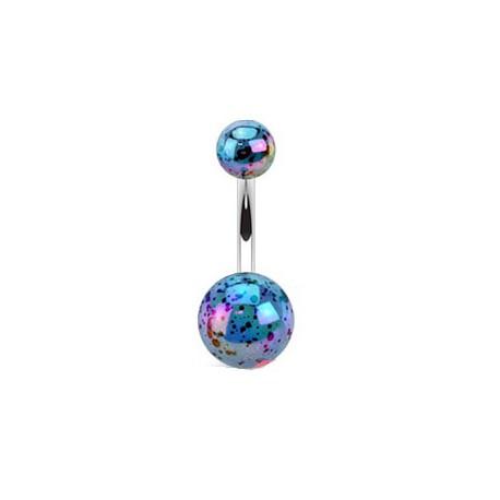 piercing nombril en forme de boule bleu en acrylique. Black Bedroom Furniture Sets. Home Design Ideas