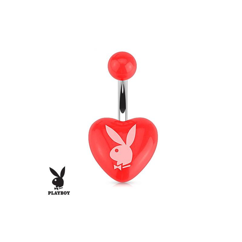 piercing nombril en forme de coeur en acrylique avec le lapin playboy. Black Bedroom Furniture Sets. Home Design Ideas
