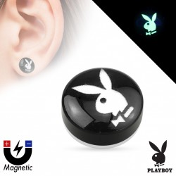 Faux piercing plug Playboy aimanté Xil