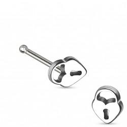 Piercing nez avec cadenas en acier droit Caz