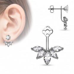 Bijou de puce d'oreille avec cinq zirconiums Coqak