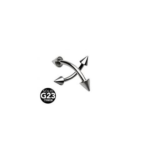 Piercing arcade titane pointes taille 12mm Ug ARC021