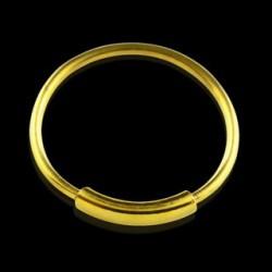 Piercing anneau 10mm plaqué or Phat NEZ057