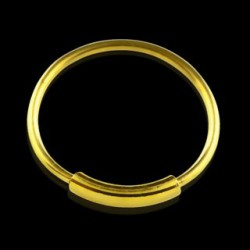 Piercing anneau 10mm plaqué or Phat Piercing oreille3,99€