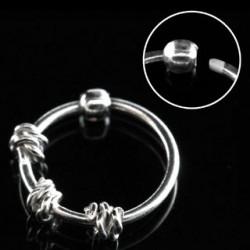 Piercing anneau 10mm plaqué argent Pagot NEZ029