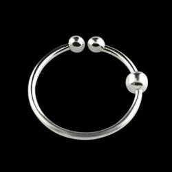 Faux piercing anneau 12mm plaqué argent Pog FAU066