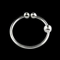 Faux piercing anneau 8mm plaqué argent Pog FAU063