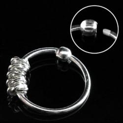 Piercing anneau plaqué argent 10mm Chait NEZ026