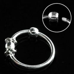 Piercing anneau plaqué argent 10mm Puk NEZ025