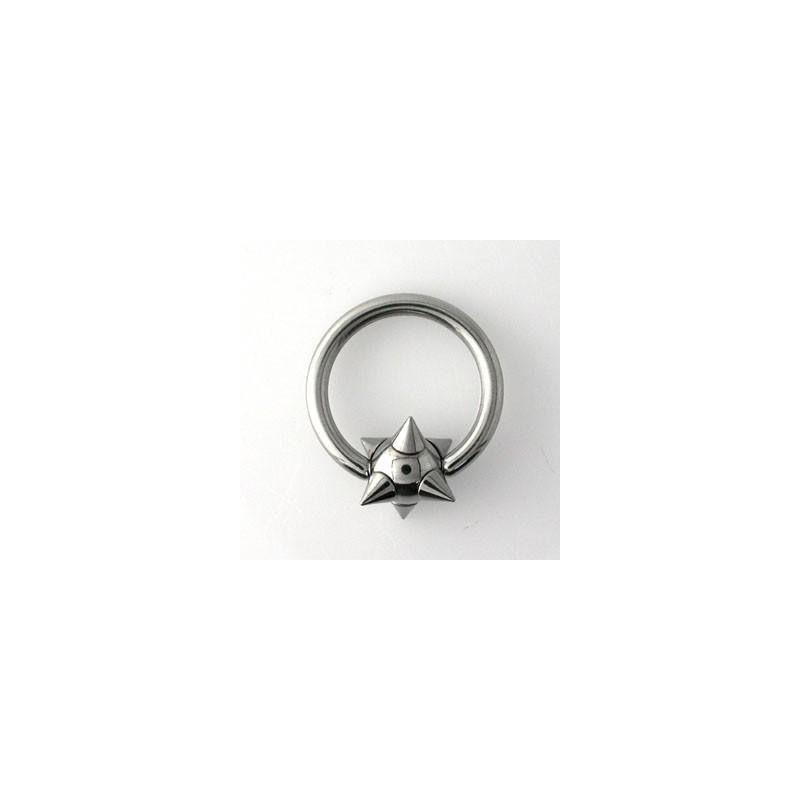 Piercing anneau 12 x 2mm boule et pointes Cyo Piercing oreille4,60€