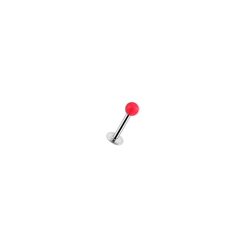 Piercing labret lèvre 8mm boule rouge Chom Piercing labret1,99€