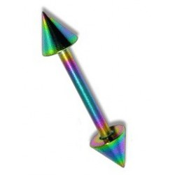 Piercing arcade 8mm droit arc en ciel Nim