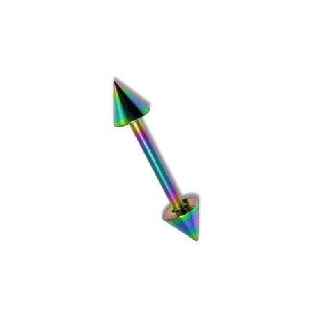 Piercing arcade 8mm droit arc en ciel Nim ARC026