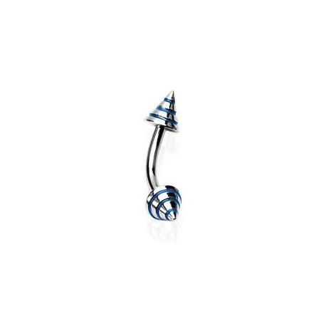 Piercing arcade 8mm pic bleu Tata ARC038