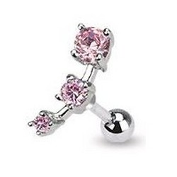 Piercing Tragus cartilage rose Byrn TRA004