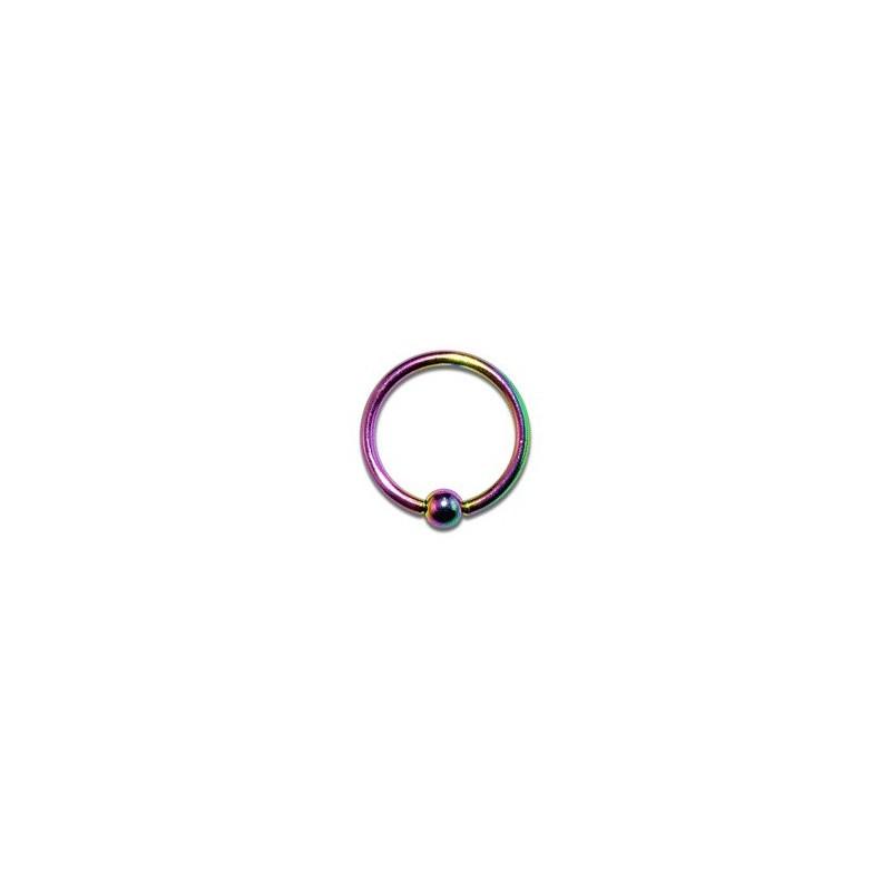 Piercing oreille anneau 10mm tragus arc en ciel Piercing oreille3,60€