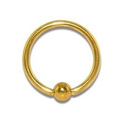 Piercing tragus anneau 8 x 1mm doré Croy TRA075
