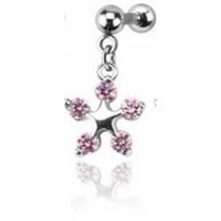 Piercing Tragus fleur Rose Phav Piercing oreille6,90€