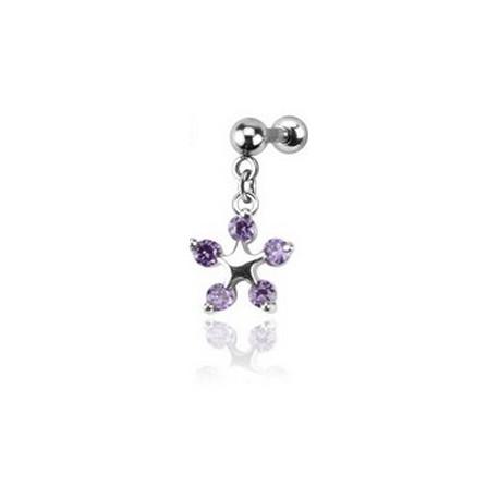 Piercing Tragus Fleur Violet Aproi 6 90