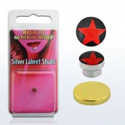 Faux piercing magnétique avec une étoile rouge Phal Faux piercing4,85€