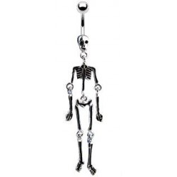 Piercing nombril avec un squelette noir Trys Piercing nombril6,49€