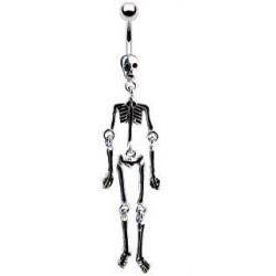 Piercing nombril squelette noir Trys NOM041