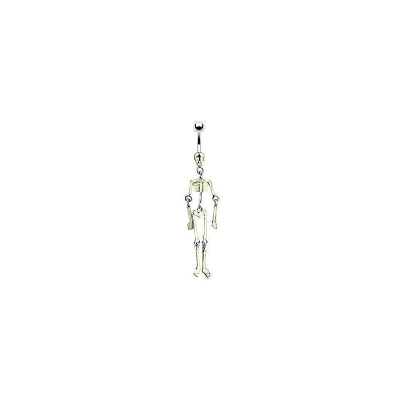 Piercing nombril squelette jaune Trylo Piercing nombril6,49€