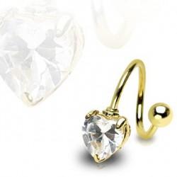 Piercing nombril spirale doré avec un cœur Koyt Piercing nombril6,80€