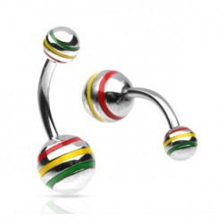 Piercing nombril boule striée Rasta Lura Piercing nombril4,80 €