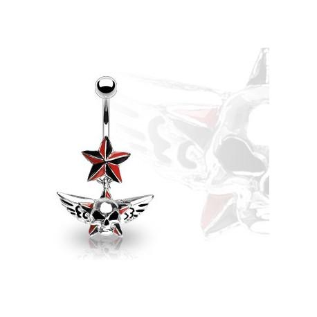 Piercing nombril avec une tête ailée gothique Tajo Piercing nombril6,49€