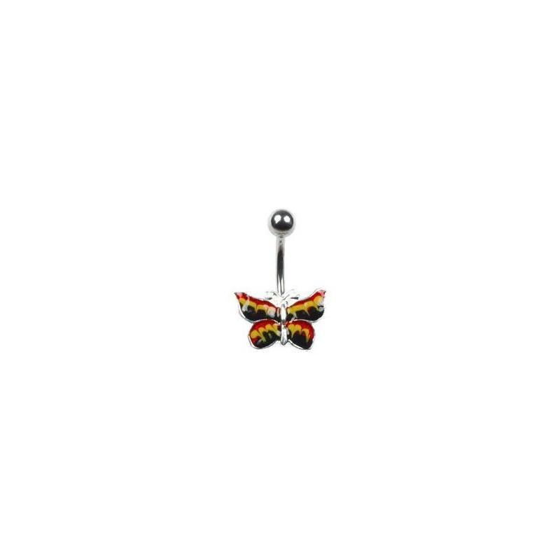 Piercing nombril avec un papillon jaune Buty Piercing nombril6,80€