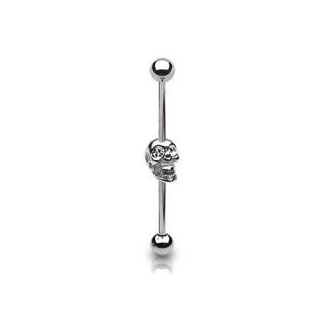 Piercing industriel 38mm tête de mort blanc Pya Piercing oreille6,60€
