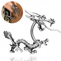 Faux piercing dragon asiatique acier Dux