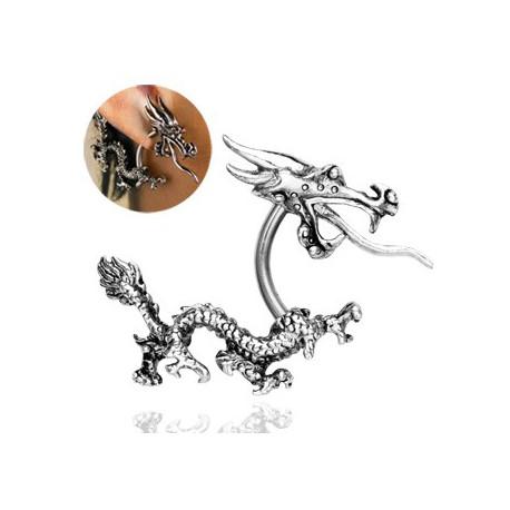 Faux piercing dragon asiatique acier Dux Faux piercing6,70€