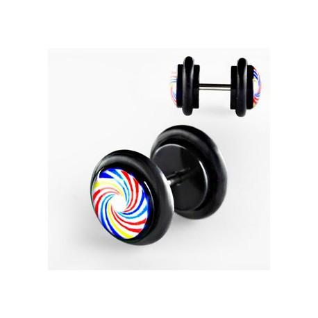 Faux piercing plug spirale Fufyn FAU009