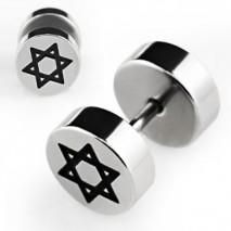 Faux piercing plug acier avec étoile Xic Faux piercing3,60€