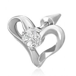 Faux piercing oreille avec un cœur et zirconium Xac Faux piercing5,20€