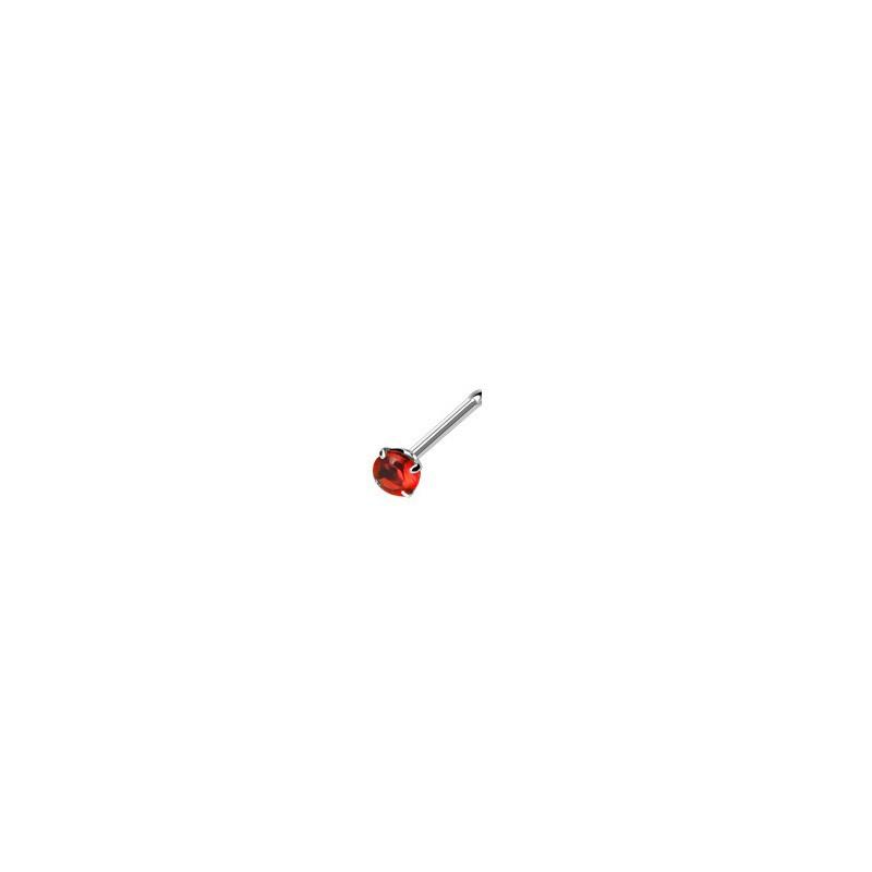 Piercing nez droit gem rouge serti Dinton Piercing nez3,80€