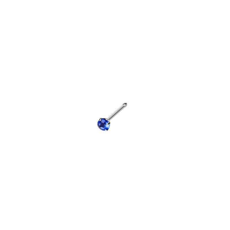 Piercing nez droit gem bleu serti Dertan Piercing nez3,80€