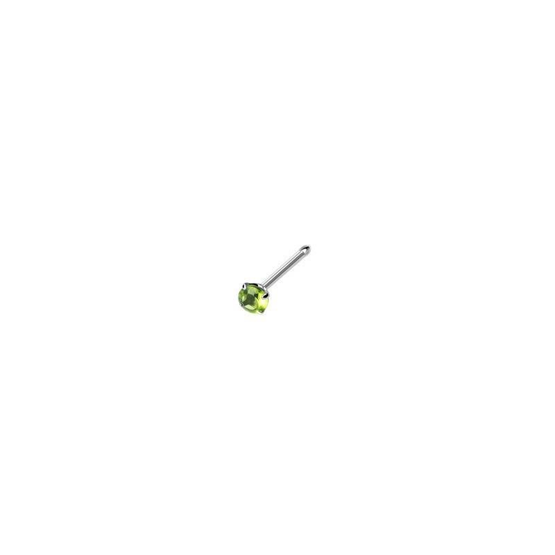 Piercing nez droit gem vert serti Dytran Piercing nez3,80€