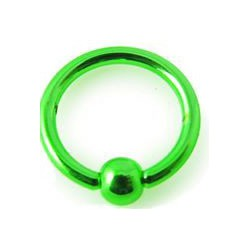Piercing anneau 8 x 1,2mm vert Bonly ANN023