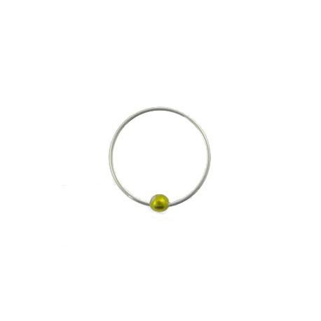 Piercing anneau 8mm plaqué argent Alou NEZ023