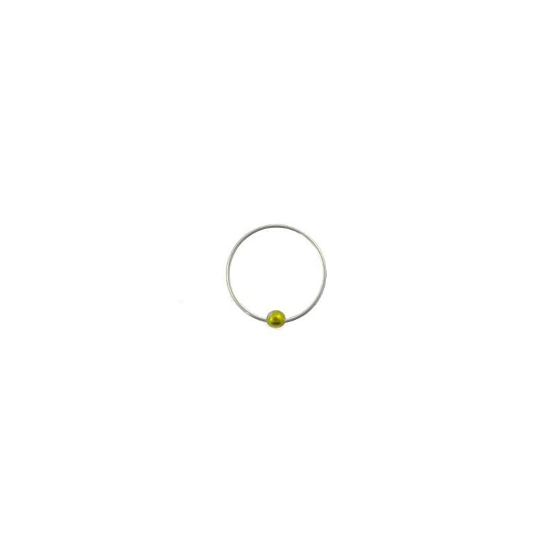 Piercing anneau 12mm plaqué argent Alam Piercing nez3,60€