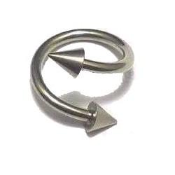 Piercing spirale 8mm avec pointes Kogy SPI001
