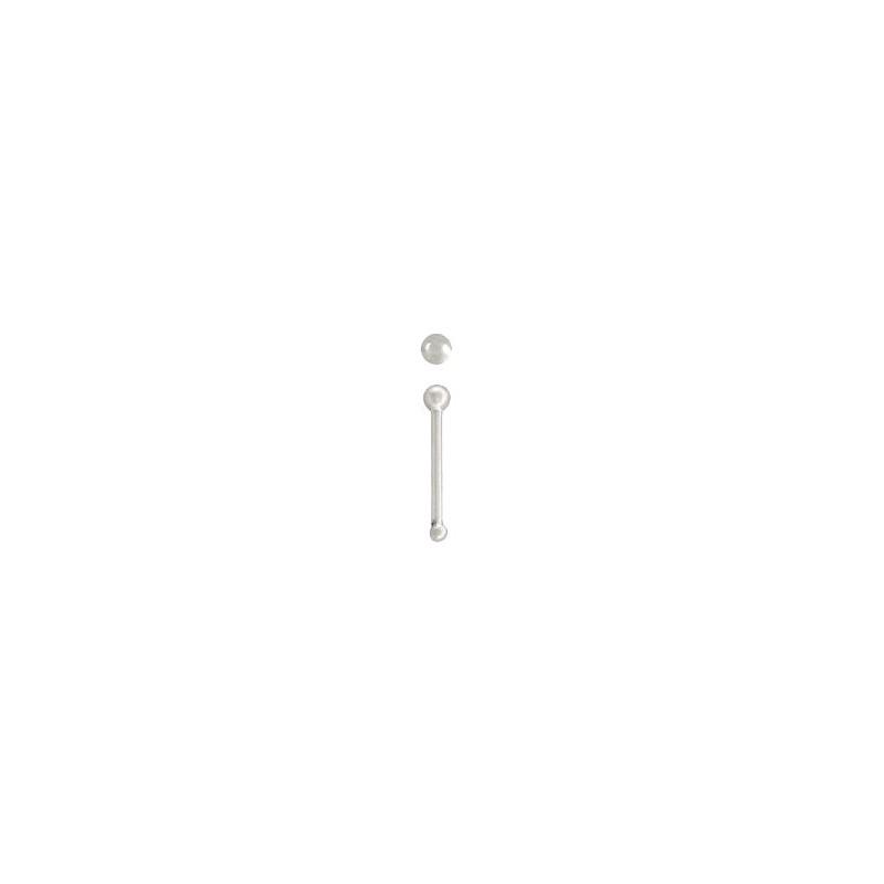 piercing nez droit clou boule argent 925 kote 1 99. Black Bedroom Furniture Sets. Home Design Ideas