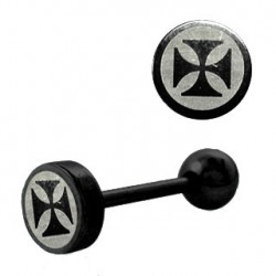 Piercing langue croix chopper Um
